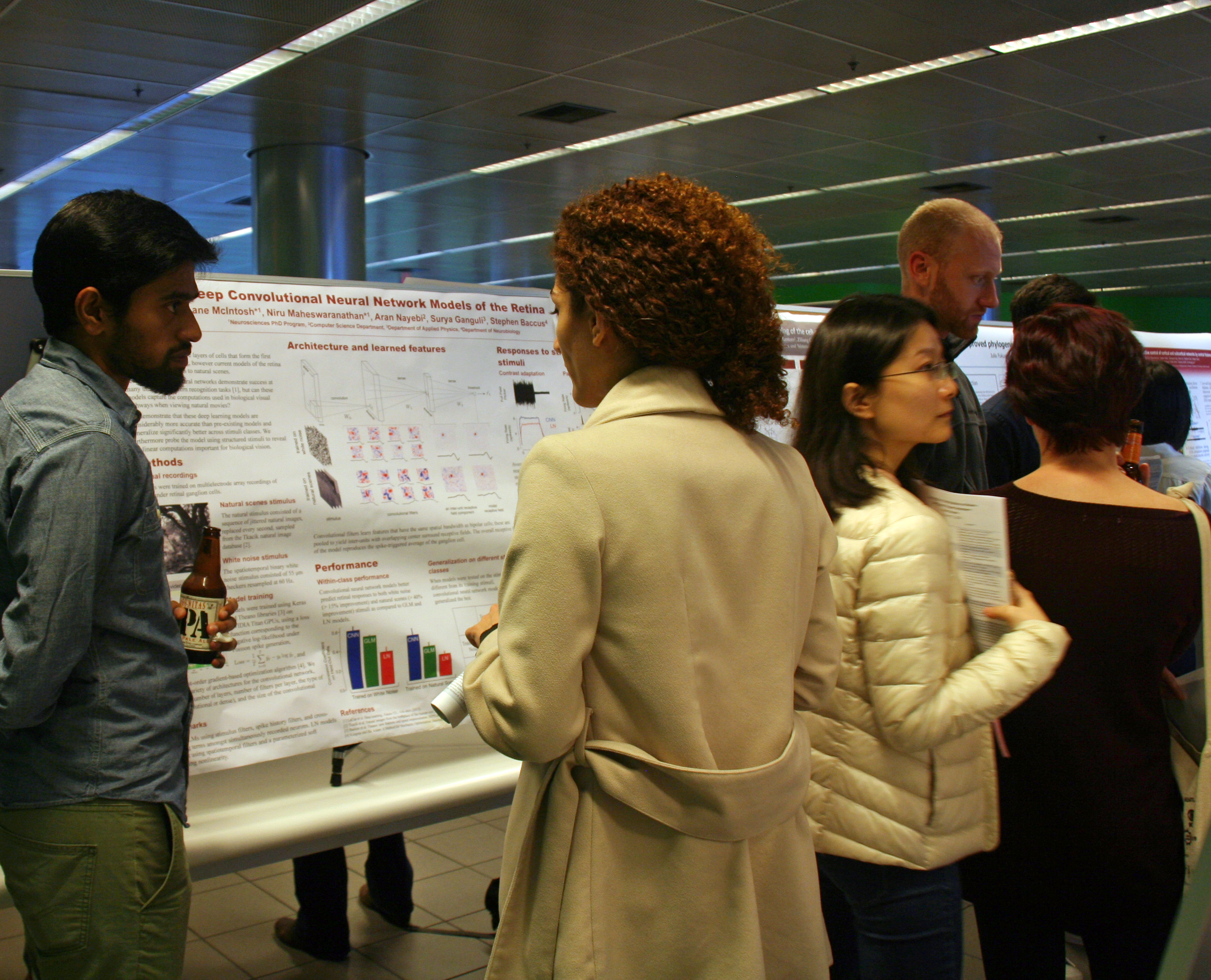 Photo of IIP Seed Grants poster session attendees.